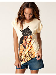 Mad Love Lady Panther Longline Tee