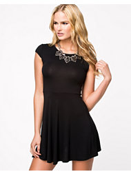 Club L Essentials Cap Sleeve Skater Dress