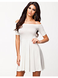 Club L Essentials Off Shoulder Skater Dress