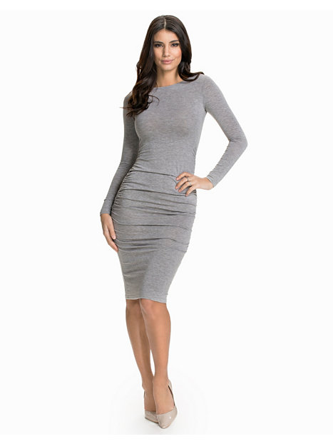 L/S Rouched Gathered Dress