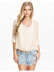Club L Essentials Chiffon Detailed Wrap Blouse