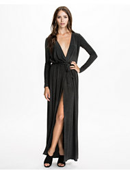 Club L Essentials Maxi Open Split Dress