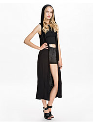 Club L Essentials Sleeveless Hooded Long Kimono
