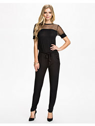Club L Essentials Mesh Insert Jumpsuit