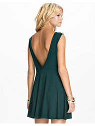 Club L Essentials V Back Drop Arm Skater Dress