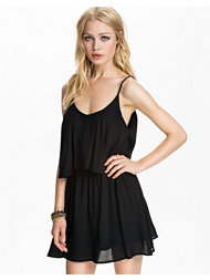 Club L Essentials Cami Strap Overlay Frill Dress