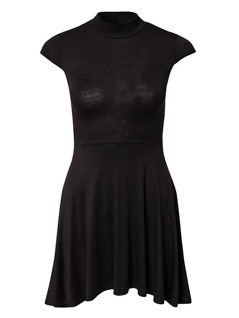 High Neck Skater Dress