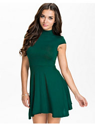 Club L Essentials High Neck Skater Dress