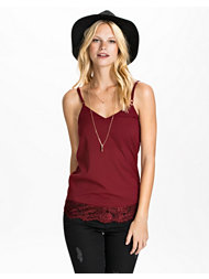 Club L Essentials Eyelash Lace Cami Top