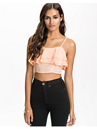 Club L Essentials Frill Detail Crop Top