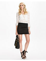 Club L Essentials Ruched Gathered Mini Skirt