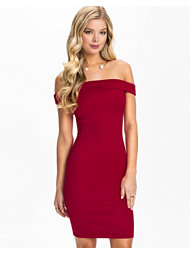 Club L Essentials Bardot Scuba Midi Dress