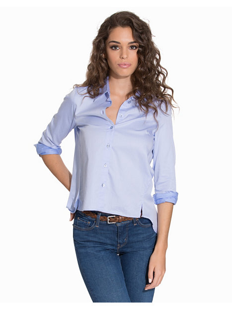 Amazing  Shirt Women Oxford Shirts Morris Light Blue Blouses Blue Shirts Women