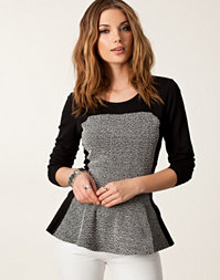 River Island - Panel Peplum Top