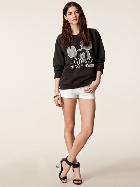 print mickey mouse sweat river island schwarz. Black Bedroom Furniture Sets. Home Design Ideas