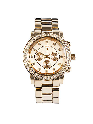 bling river island gold watches accessories