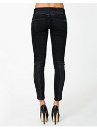 River Island Biker Colour Block Denim