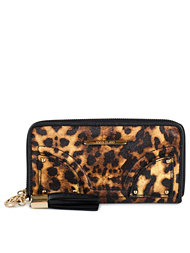 River Island Leopard Patch Front Zip