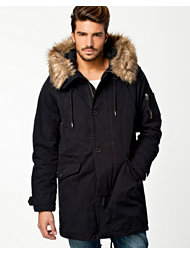 River Island Black Cas Jacket Ted Parka