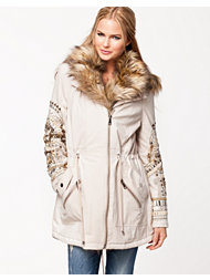 River Island Light Embeliished Parka