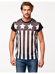 River Island SS Crew Stars & Stripes