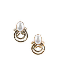 River Island Faceted Stone Loop Studs