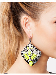 River Island Fluro On Jelly Dangle Ear