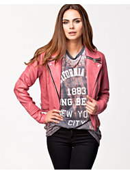 River Island PU Zip Collar Jacket