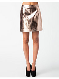 River Island Clover Metallic Skirt