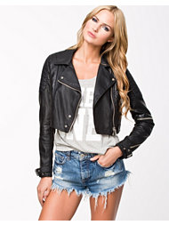 River Island Cropped Croc PU Jacket