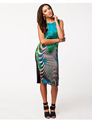 River Island Green Print Midi Shift