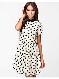 River Island Sslv Spot Tappy Dress