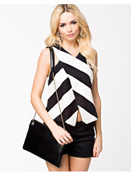 River Island Structured Stripe Wrap Top
