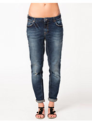 River Island Dark Slim Boyfriend Denim