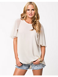 River Island Chiffon Elbow Sleeve Tunic Top