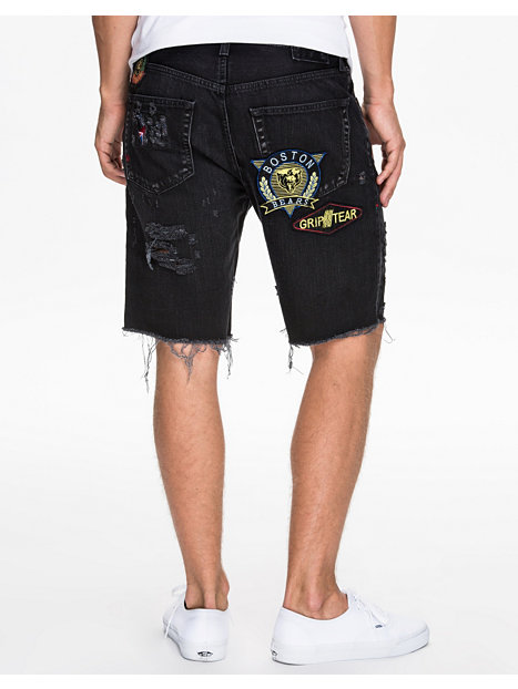 Custo Black Denim Shorts