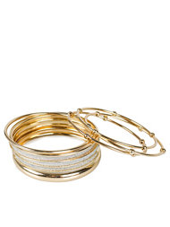River Island Gold Mixed Bracelet