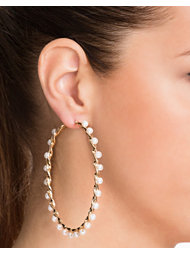 River Island Pearl Twisted Hoops