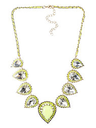 River Island Fluro Yellow Necklace