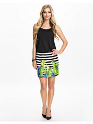 River Island Palm Print Skirt