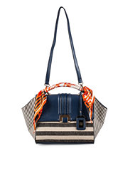 River Island Foldover Stripe Bag