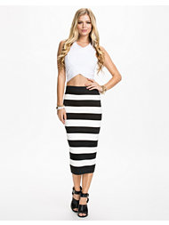 River Island Striped Bandage Tube Skirt