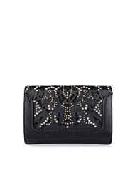 River Island Lasercut & Stud Clutch