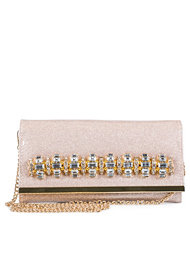 River Island Pink Glitter Jewelled Xbody Purse