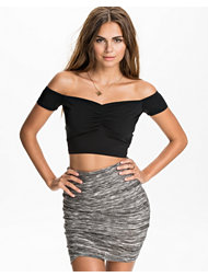 River Island SL Crop Bardot Top