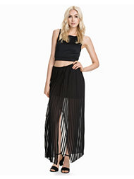 River Island Pleated Column Maxi Skirt