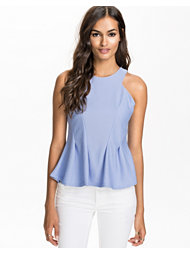 River Island Textured Sleeveless Peplum