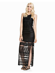 River Island Sless Racer Crochet Column Maxi Dress