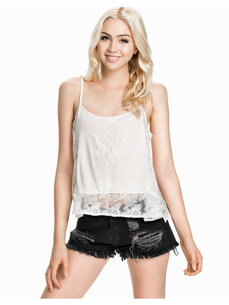 SL Lace Embroidered Cami Top