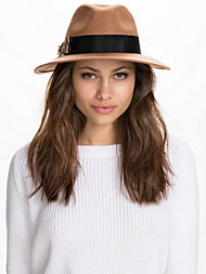 River Island Feather Trim Felt Fedora